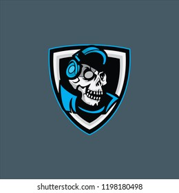 Skull logo mascot for sport,esports