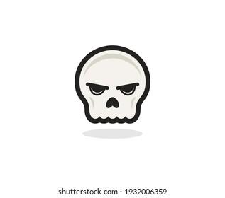 Skull logo symbol skeleton vector icon