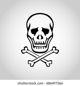 skull logo vector icon design