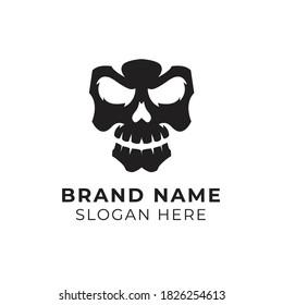 Skull Logo Vector Illustration Template
