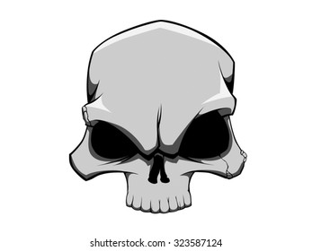 Skull mascot for Halloween vector art