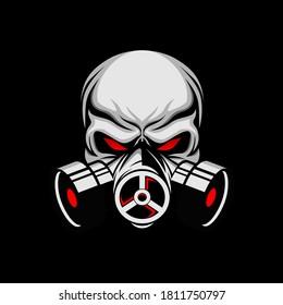 skull mask illustration, vector skull mask