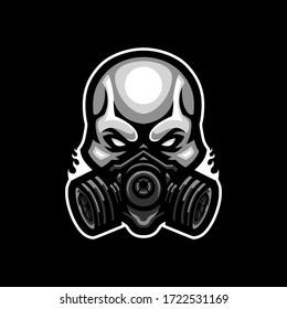 Skull Mask Mascot Gaming Esport Logo Template