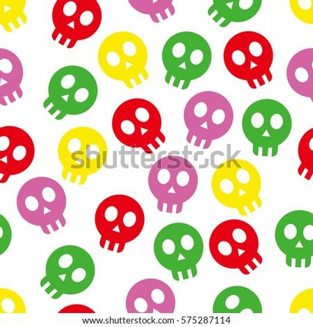 Skull native repeatable wallpaper. Skeleton pattern background