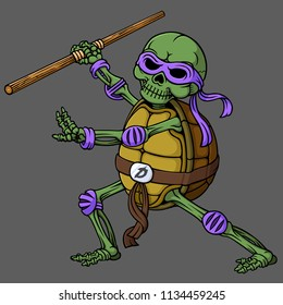 skull of ninja turtle
