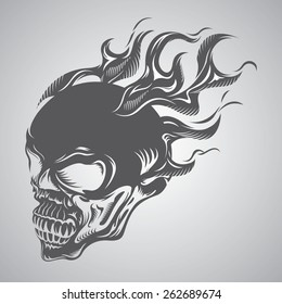 Flaming Skull Images Stock Photos Vectors