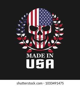 Skull on USA flag