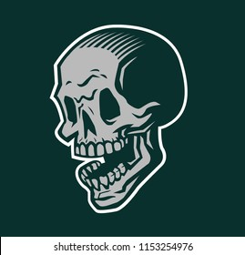 Skull with open mouth