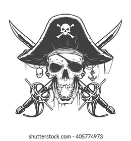 Calaveras Piratas Stock Vectors Images Vector Art Shutterstock