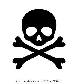 Skull pirate vector crossbones Halloween icon logo graphic symbol illustration