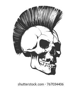 Skull punk illustration