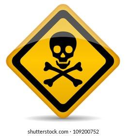 Skull rhombus sign, eps10 vector illustration
