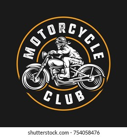 Skull Rider Motorcycle Club Illustration