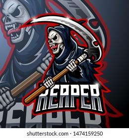 Skull ripper logo mascot design