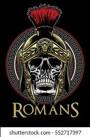 Skull of roman warrior