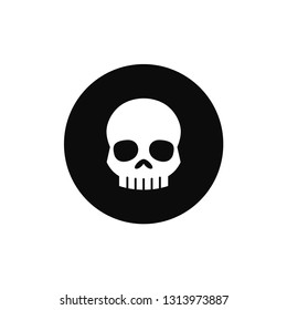Skull rounded icon