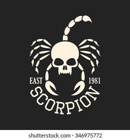Skull scorpion, t shirt graphics