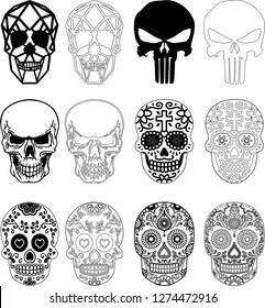 Skull several details