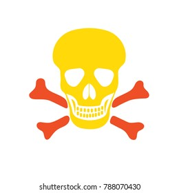 skull sign - Attention danger, death illustration