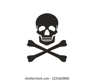 Skull, skeleton, bones icon sign symbol