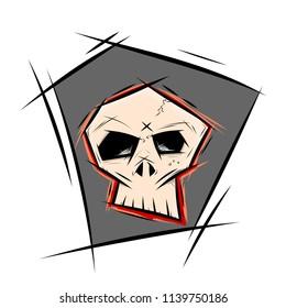 skull in sketchy style