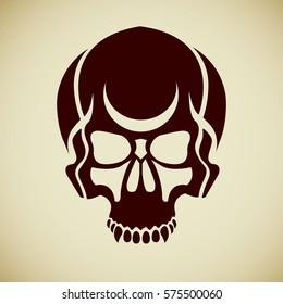 0b18a0582fac Vector Ink Skull Stock Vector (Royalty Free) 128866057 - Shutterstock