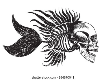 skull tattoo / t-shirt graphics