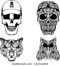 Skull Tattoo Vector Art