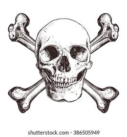 Skull With Two Cross Bones