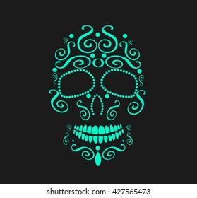 Skull vector background for fashion design, patterns, tattoos