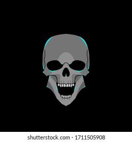 skull vector, skull design illustration. suitable for various design purposes.
