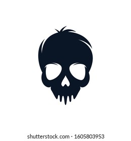 Skull vector icon illustration design