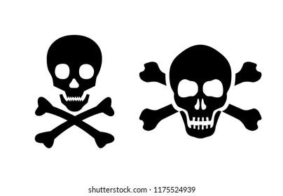 Skull vector icon set illustration isolated on white background