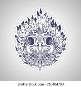 Skull . Vector illustration.
