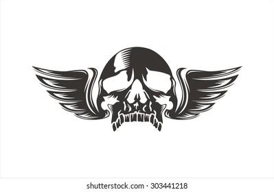 Skull wings cool