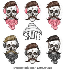 Skull and winter accessories