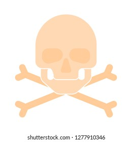 skull-and-bones icon - skull-and-bones isolated,poison symbol illustration- Vector  pirate