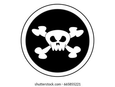 Skulls crossed on dangerous objects