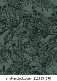 Skulls in tropics
