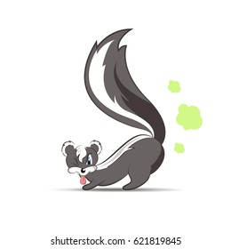 Skunk cartoon character, smelly