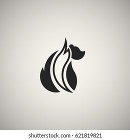 Skunk, fox icon, long tail