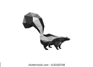 Skunk Low Poly Abstract Design