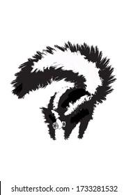 Skunk wearing a respirator mask