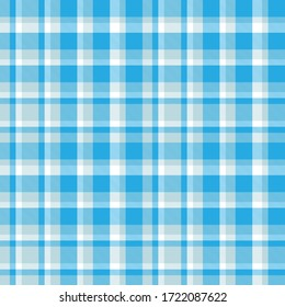 Sky blue Plaid, checkered, tartan seamless pattern suitable for fashion textiles and graphics