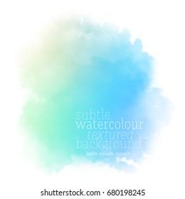 sky blue watercolor