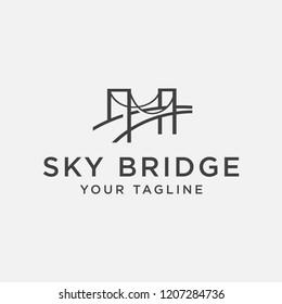 sky bridge logo design