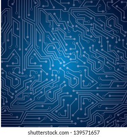 sky circuit  over blue background vector illustration
