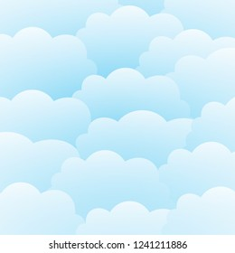 Sky and cloud background can be used for posters, flyers, postcards, web banners. Vector illustration of EPS 10.