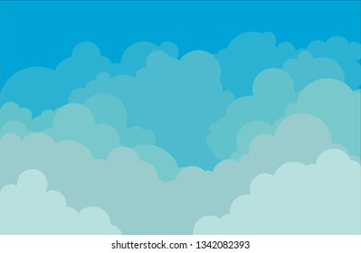 Sky and clouds background vector illustration