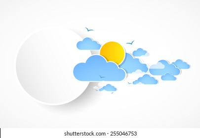 Sky with clouds banner